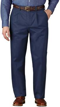 Charles Tyrwhitt Blue Classic Fit Single Pleat Weekend Cotton Chino Pants Size W30 L38