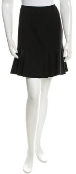 Alaia Wool Fit & Flare Skirt