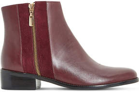 Dune Ladies Berry Timeless Pauler Leather Ankle Boots
