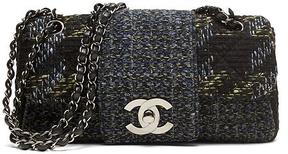 LUXE FINDS | Chanel Blue Tweed Fantasy Flap Bag