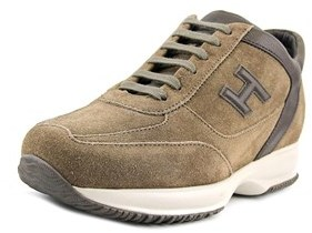 Hogan New Interactive Mod Round Toe Suede Sneakers.