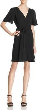Betsey Johnson Crepe Wrap Dress