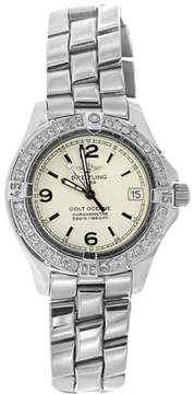 Breitling Colt Stainless Steel & Diamond Bezel Womens Watch