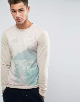 Blend of America Surfing Print Sweater