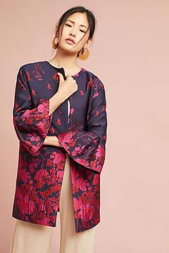 Eva Franco Floral Flutter-Sleeve Coat