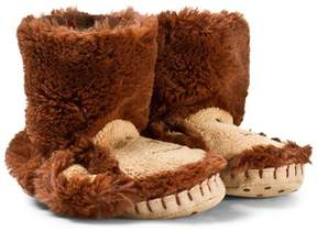 Hatley Brown Monkey Kids Slippers