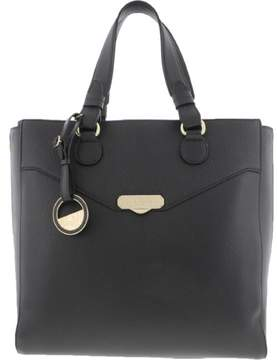Versace Womens Leather Pebbled Tote Handbag