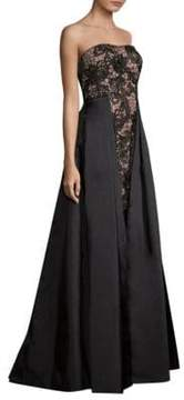 Aidan Mattox Strapless Long Dress