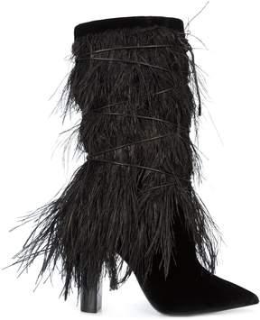 Saint Laurent Ostrich Feather Calf Boot