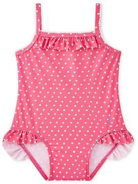 Petit Bateau Baby girl's polka dot swimsuit
