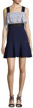 ABS by Allen Schwartz Women's Lace & Crepe Fit-&-Flare Dress