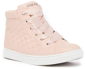 Steve Madden Saffire Quilted Mid Sneaker (Little Kid & Big Kid)