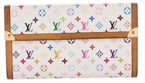 Louis Vuitton Multicolore International Wallet - WHITE - STYLE