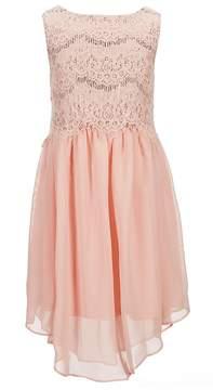 Us Angels Blush by Big Girls 7-16 Lace-To-Chiffon Dress