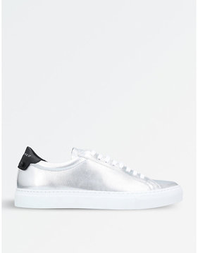 Givenchy Knot metallic-leather trainers