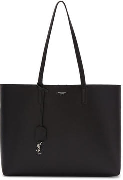 Saint Laurent Black and Red East-West Shopping Tote