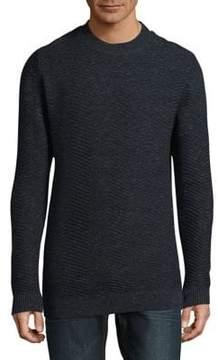 Selected Chevron-Stitch Sweater