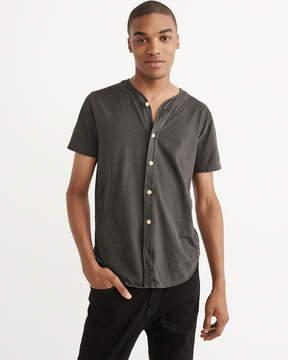 Abercrombie & Fitch Garment Dye Baseball Button-Up