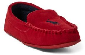 Ralph Lauren Desmond Suede Moccasin Slipper Red 4