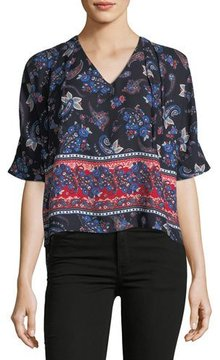 Collective Concepts V-Neck Side-Ties Top
