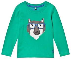 Joules Green Wolf Applique Tee