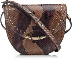 Jimmy Choo CHRISSY Ballet Pink and Grape Degrade Painted Python Cross Body Bag