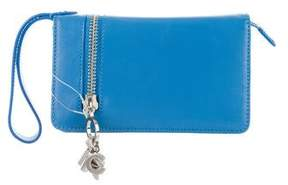 Marc Jacobs Leather Compact Wallet - BLUE - STYLE