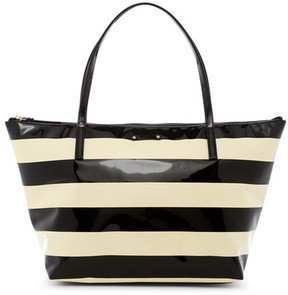 Kate Spade Sophie Striped Tote - BLK-CREAM - STYLE