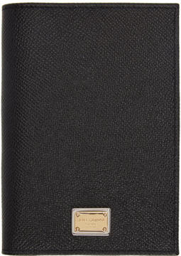 Dolce & Gabbana Black Leather Passport Holder - BLACK - STYLE
