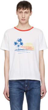 Saint Laurent White Waiting For Sunset T-Shirt