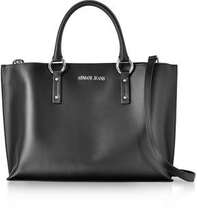 Armani Jeans Black Signature Tote Bag