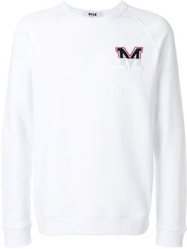 MSGM micro faded logo sweatshirt
