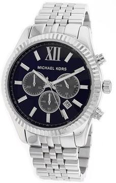 Michael Kors MK8280 Men's Lexington Silver Stainless Steel Chronograph Watch