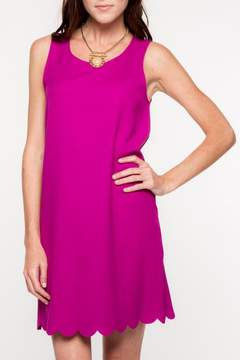 Everly Scalloped Hemline Dress