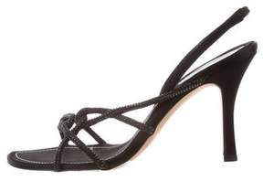 Rene Caovilla Crystal Knot Sandals