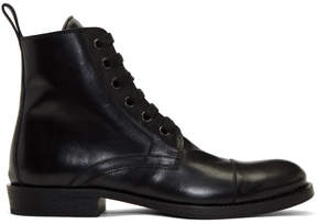 Ann Demeulemeester Black Maine Lace-Up Boots