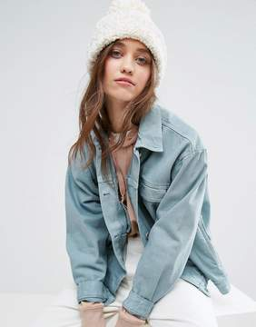 Free People Knitted Beanie Hat With Pom Pom