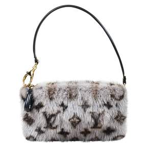 Louis Vuitton Milla mink clutch bag - GREY - STYLE