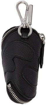 Fendi Black Leather Zip-Around Keychain