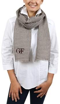 Gianfranco Ferre Du3c3308/2 Brown Checkered Scarf.