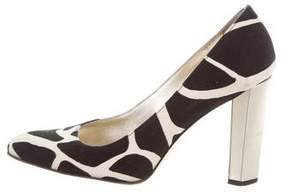 Diane von Furstenberg Canvas Round-Toe Pumps