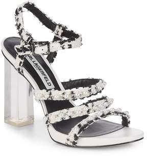 Karl Lagerfeld Paris Women's Lara Block Heel Textured Sandal