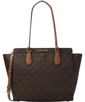 Michael Kors Dee Dee Large Convertible Logo Tote - Brown - 30F6GTWT4B-200 - BROWN - STYLE