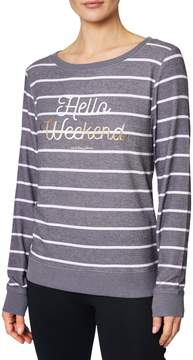 Betsey Johnson HELLO WEEKEND STRIPED PULLOVER