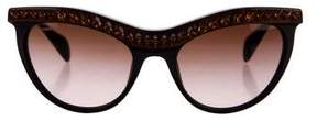 Prada Embellished Cat-Eye Sunglasses