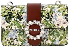 Pinko Crossbody Bags Bag Mini Love Print In Leather With Floral Print
