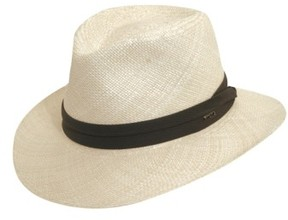 Scala Men's Straw Outback Hat - White