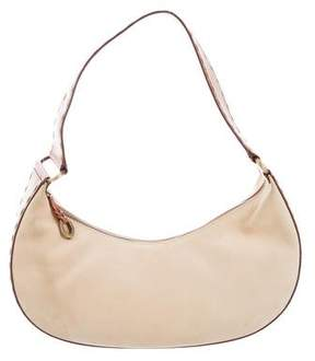 Oscar de la Renta Suede & Leather Hobo