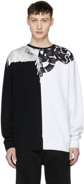 Marcelo Burlon County of Milan Black and White Snake Wing Sweatshirt