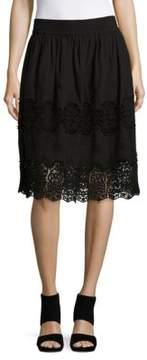 Context Plus Crochet Accented Skirt